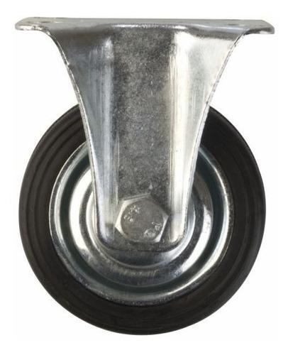 rueda goma base fija 125mm