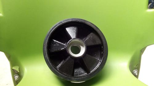 rueda hierro poliuretano transpaleta manual delantera 7