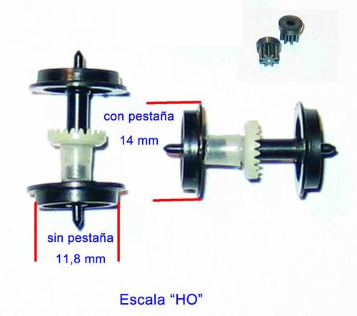 rueda locomotora con corona y piñón ho diam.11,8 mm nº25