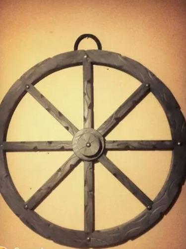 rueda madera 80cm carro para colgar deco lampara quincho
