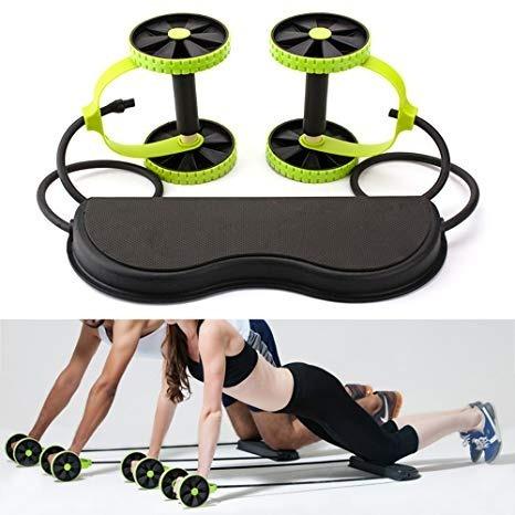 rueda para ejercicio abdominal multifuncional revoflex
