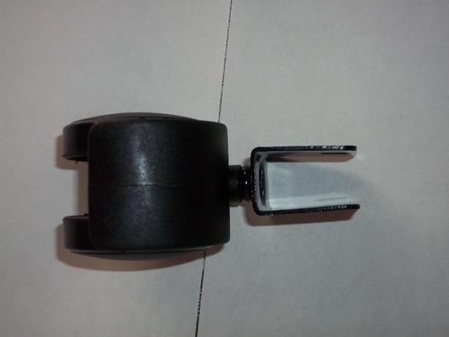 rueda para muebles plastica con encastre 16 mm ó 19 mm