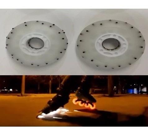 rueda para patines con luz led y chispas