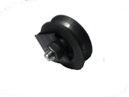 rueda para porton 2 1/2 pulgadas con base