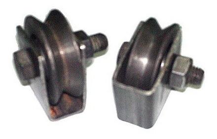rueda para porton 2 pulgadas con base
