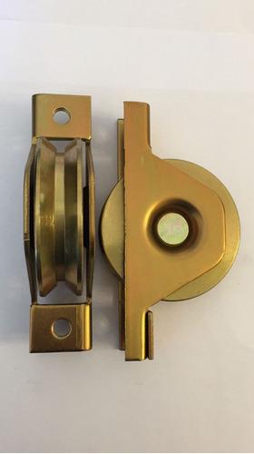 rueda para porton corredizo hierro 60 en v con caja en t