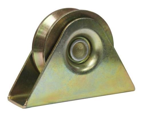 rueda para porton corredizo hierro 60 en v con caja en v