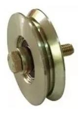 rueda para porton corredizo hierro 60mm en v ruleman - tyt