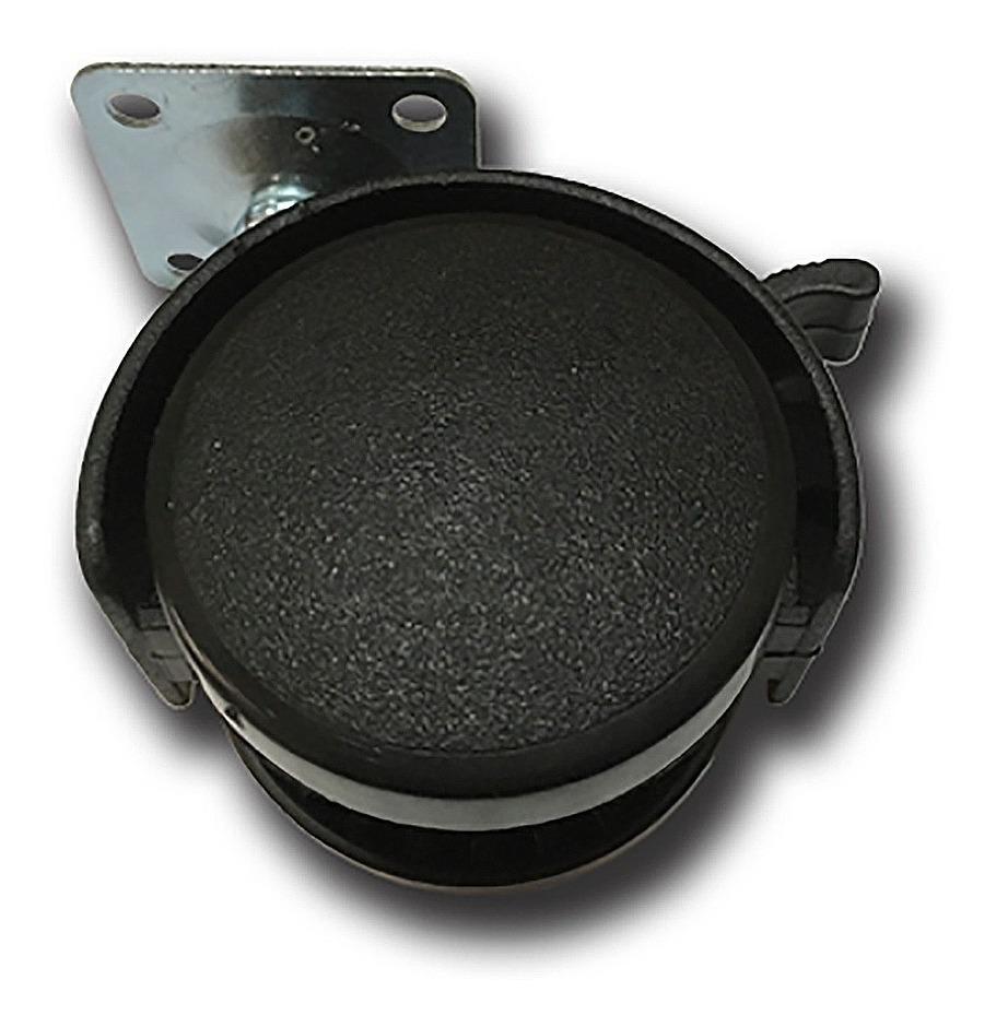 Rueda Para Silla Oficina Pc Dual Base Con Freno 40mm Bronzen