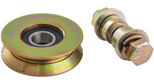 rueda porton con perno 75 mm