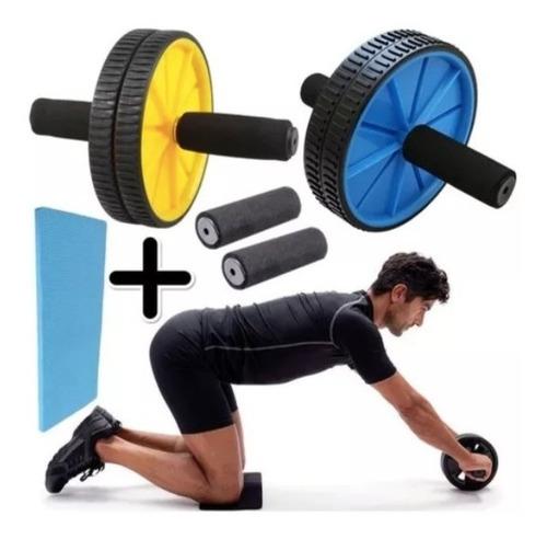 rueda rodillo abdominal + tapete gratis