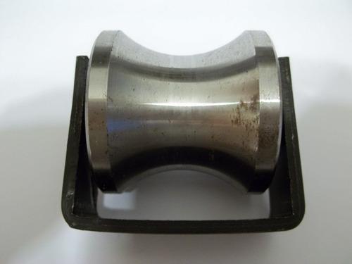 rueda roldana con base tubo redondo diámetro 2 pulgadas