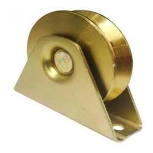 rueda roldana para porton 2-1/2 con base y canal en v 8.5d *