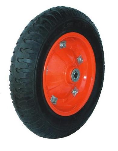 rueda solida chapa 13 x 3 pulgadas eje 16mm código fp1301