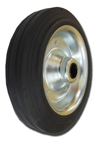 rueda timonera para trailer chapa goma envio gratis