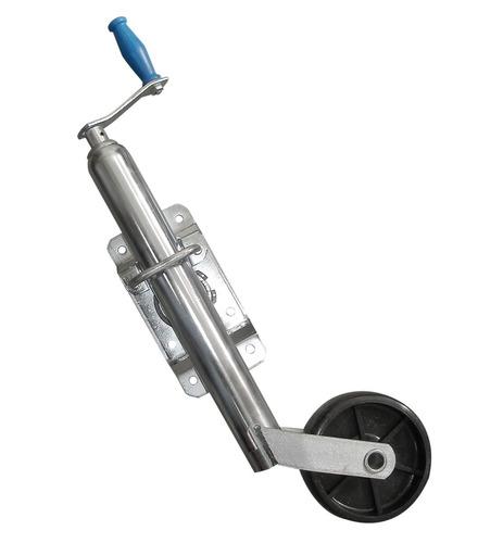 rueda timonera trailer rebatible plastica (no envios)