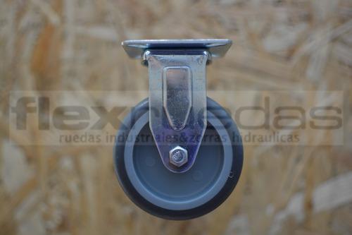 ruedas 2 giratorias y 2 fijas  75 mm  p/mesa pallet