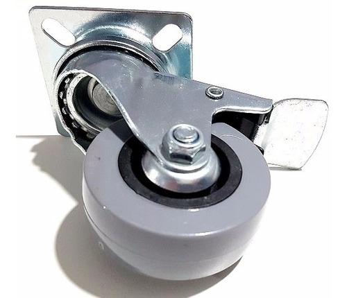 ruedas 50mm giratorias mueble 2 c/freno 2 sin freno verashop