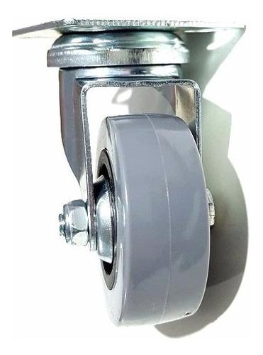 ruedas 50mm giratorias mueble pallet x 12 unidades verashop