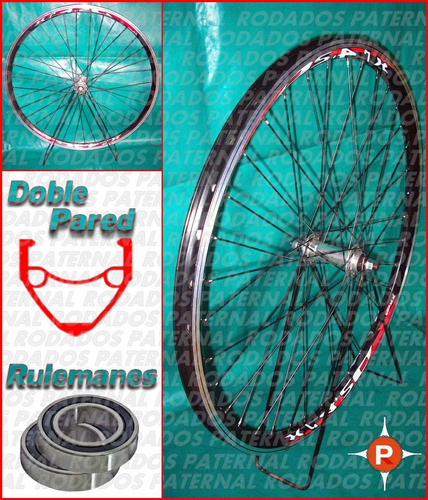 ruedas a rulemanes rod 26 doble pared por juego del y tras