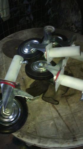 ruedas andamios tubulares