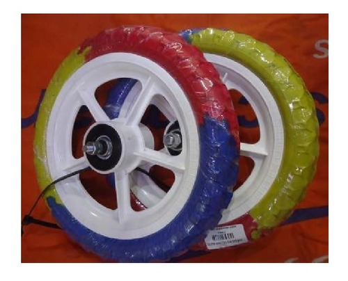 ruedas bicicleta rodado 12 con cubiertas goma eva macizas - racer bikes
