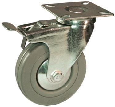 ruedas de goma gris giratorias juego x 4 para muebles - $ 220,00 ... - Ruedas Para Mesa