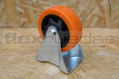 ruedas diametro 100 mm poliuretano 2 giratorias y 2 fijas