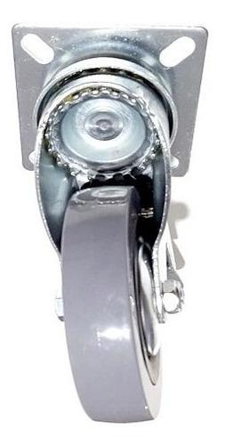 ruedas giratoria 50mm x 16 unid goma no raya verashop