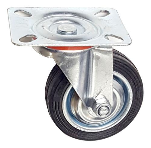 ruedas giratoria 75 mm llanta chapa 4 ruedas sin freno verashop