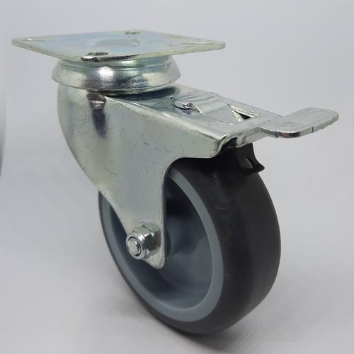 ruedas giratorias  (4u) 75 mm (dos con freno) mesa pallet