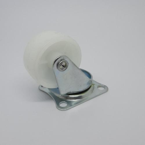 ruedas giratorias (4u) diametro 30 mm polipropileno blanco.