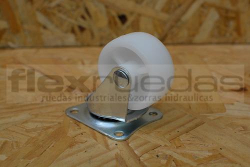 ruedas giratorias (4u) diámetro 50 mm polipropileno blanco.