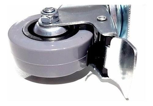 ruedas giratorias mueble 50mm 4 unid freno y traba verashop