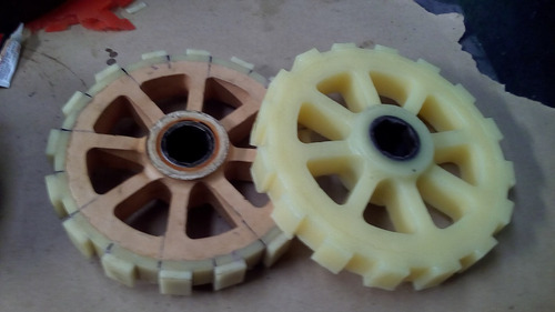 ruedas maquina descueradora