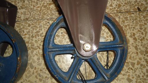 ruedas metalicas para peso
