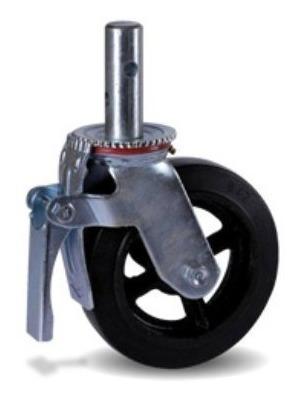 ruedas para andamio 8 pulg 200mm c/freno x 4 unidades