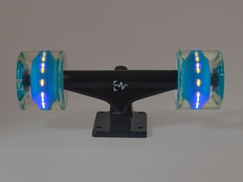 ruedas skate longboard mk 60mm x 45mm con luces led