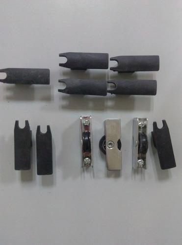 ruedas ventanas panoramicas 8 mm kit completo
