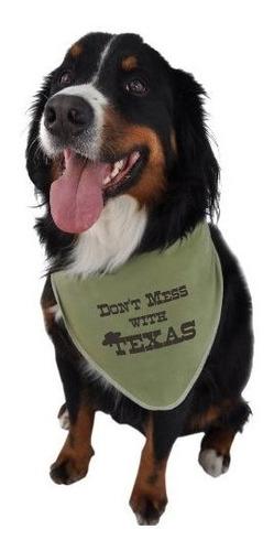 ruff ruff y meow perrito bandana dont mess con texas verde p