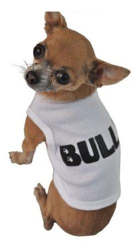ruff ruff y meow perro tank parte superior bully blanco pequ