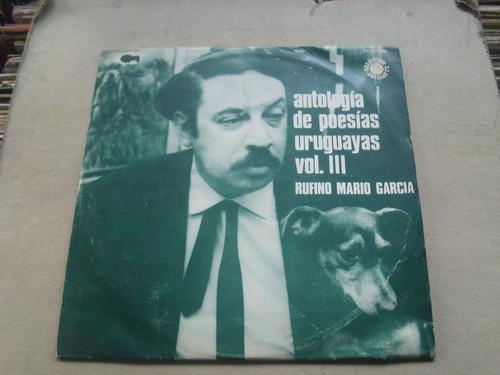 rufino mario garcia antología de poesias uruguayas vol 3