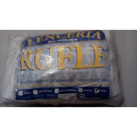 Rufle Faralado Decorativo Para Camas King Size