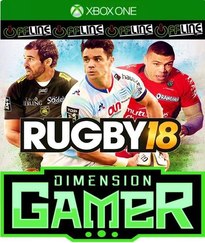 rugby 18 - xbox one - no codigo off-line