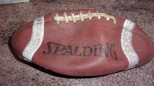 rugby pelota retro, cuero legítimo spalding / made in usa