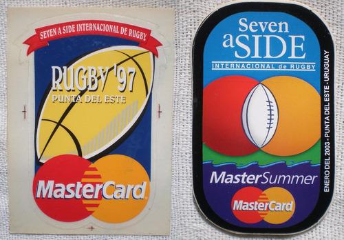 rugby seven a side punta adhesivos calcos 1997 2001 2003 c/u