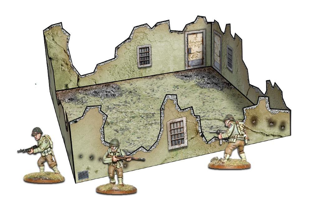 Ruínas Modelo 3 - Montada - Papercraft Wargame 28mm