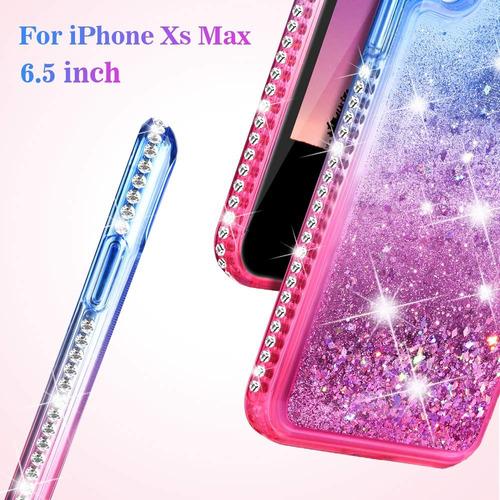 Ruky iPhone Xs Max Funda iPhone Xs Max Glitter Funda Bling