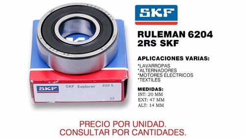 ruleman 6204 2rs skf