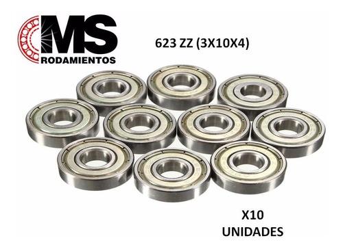 ruleman 623 zz (3x10x4) impresoras 3d x10 ms rodamientos